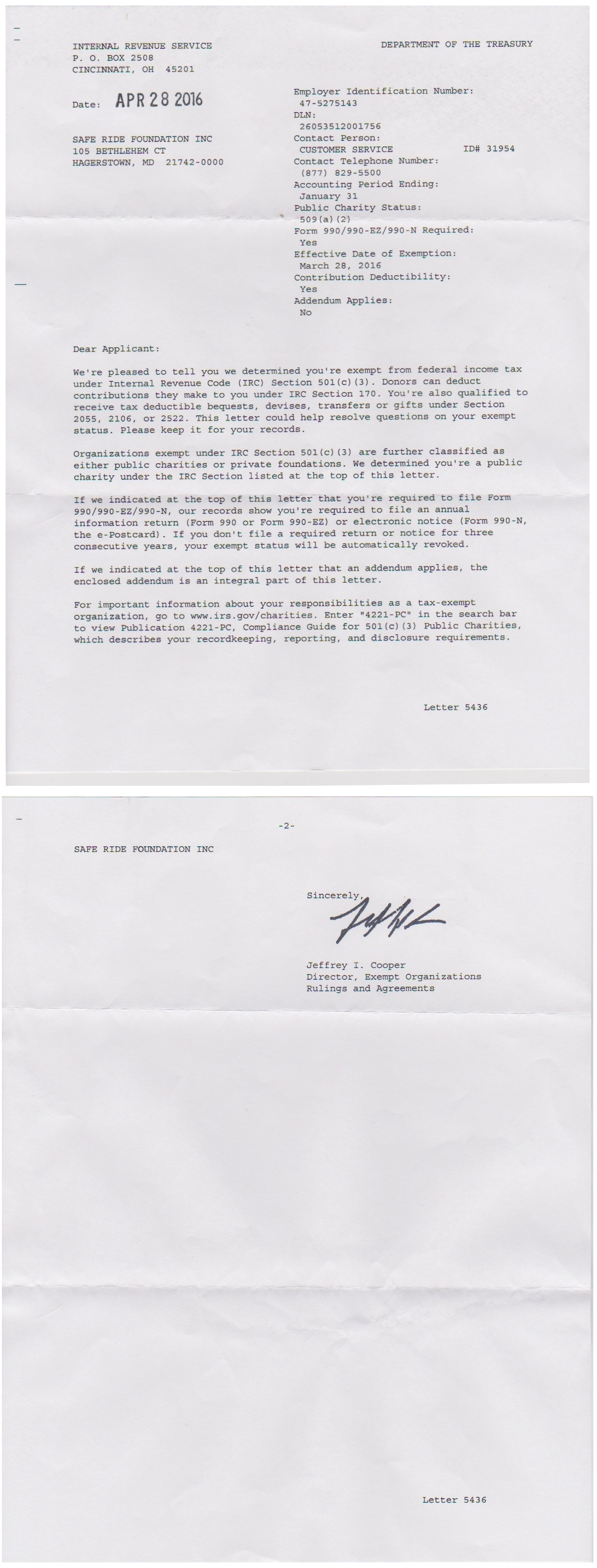 irs determination letter lovely irs determination letter cover letter examples 3975